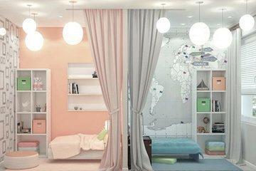 Дизайн детской комнаты для двоих детей: советы по оформлению