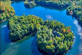 Частный остров с лесом и домом выставлен на продажу в США