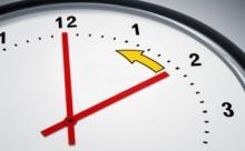 Стрелки часов снова переведем на час?