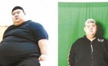 Молодой человек из Китая похудел на 142 килограмма